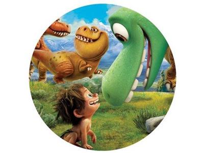 opłatek na tort dinozaur
